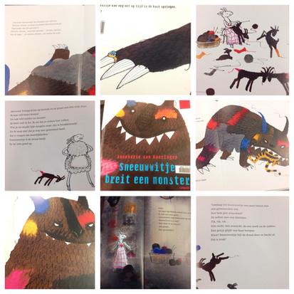 """Het prentenboek """"Sneeuwwitje breit een monster"""" geschreven door Annemarie van Haeringen"""