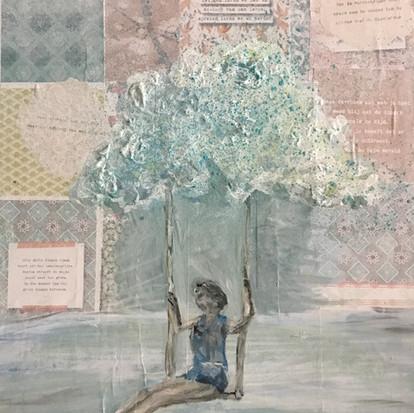Schilderij 'Vrijheid' geschilderd door juf Sas