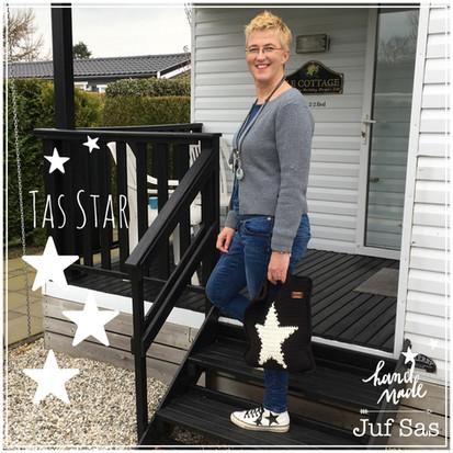 Tas Star handmade by juf Sas met gratis patroon