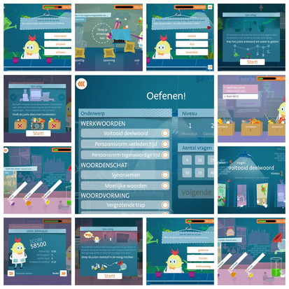 De app Bru-taal gericht op de taalontwikkeling van kinderen van 8 t/m 12 jaar