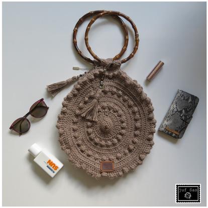Tas Zeeuwse knop handmade by juf Sas met gratis haakpatroon