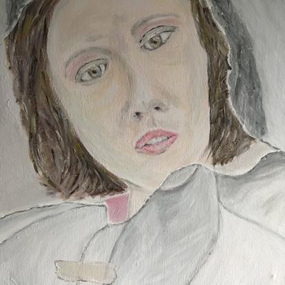 Schilderij 'Verscheurd' van juf Sas
