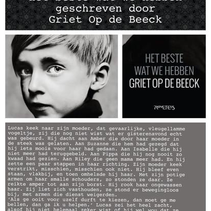 Boekquote uit 'Het beste wat we hebben' geschreven door Griet Op de Beeck