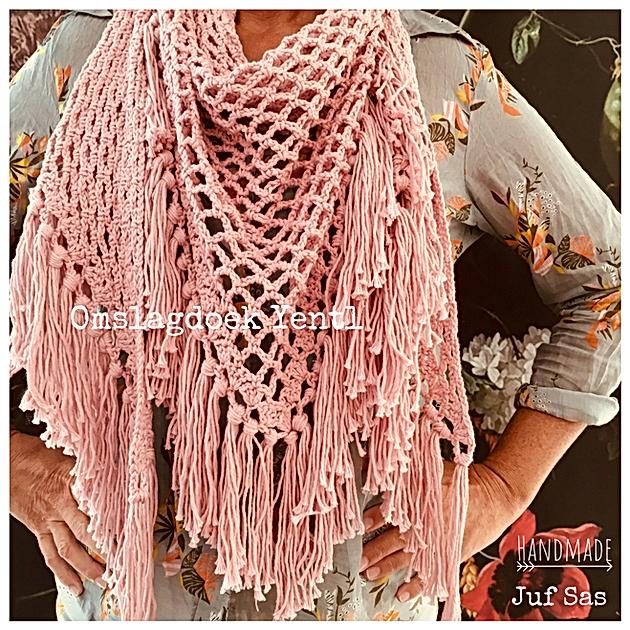 Iets Nieuws Omslagdoek Yentl handmade by juf Sas met gratis patroon   Creatief &VS14