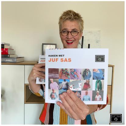 Mijn eerste haakboek 'Haken met juf Sas' in samenwerking met Yarnsea