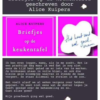 Boekquote uit 'Briefjes op de keukentafel' geschreven door Alice Kuipers