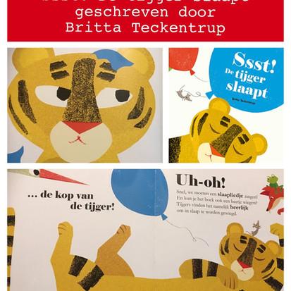 Boekquote uit Ssst! de tijger slaapt geschreven door Britta Teckentrup