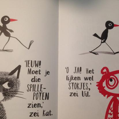 Prentenboek 'Bob maakt kunst' geschreven en geïllustreerd door Marion Deuchars