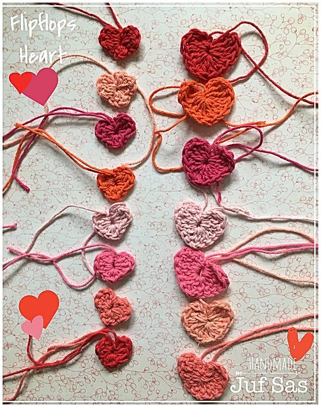 Gehaakte Flipflops Heart Handmade By Juf Sas Met Gratis Patroon