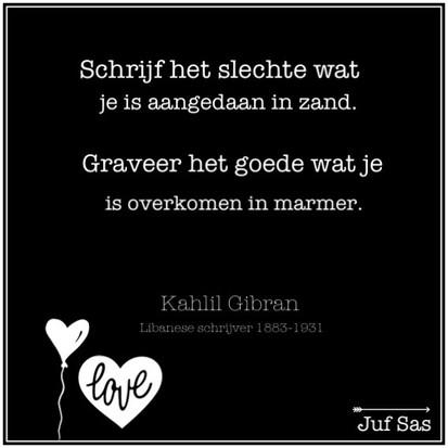 Quote van de week van Kahlil Gibran