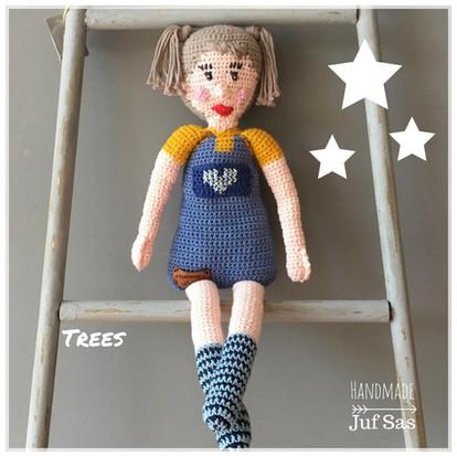 Gehaakte Pop Trees handmade byjuf Sas met gratis patroon