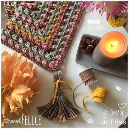 Shawl Felice handmade by juf Sas met gratis patroon