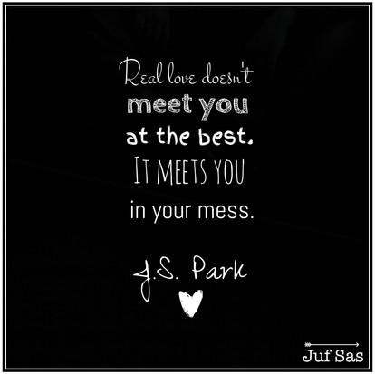 Quote van de week van over echte liefde van J.S. Park