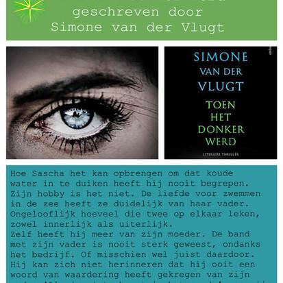 Boekquote uit 'Toen het donker werd' geschreven door Simone van der Vlugt