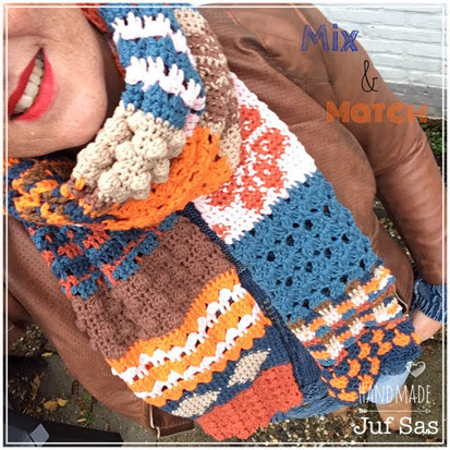 Shawl Mix & Match handmade by juf Sas haakpatronen 1 t/m 4