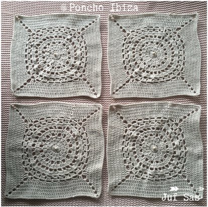 Poncho Ibiza, granny square deel 4, handmade by juf Sas met gratis patroon
