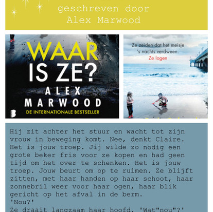 Boekquote uit 'Waar is ze' geschreven door Alex Marwood