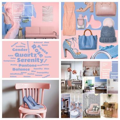 De kleuren van 2016 volgens Pantone Rose Quartz & Serenity