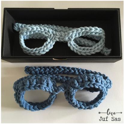 Gehaakte bril handmade by juf Sas met gratis haakpatroon