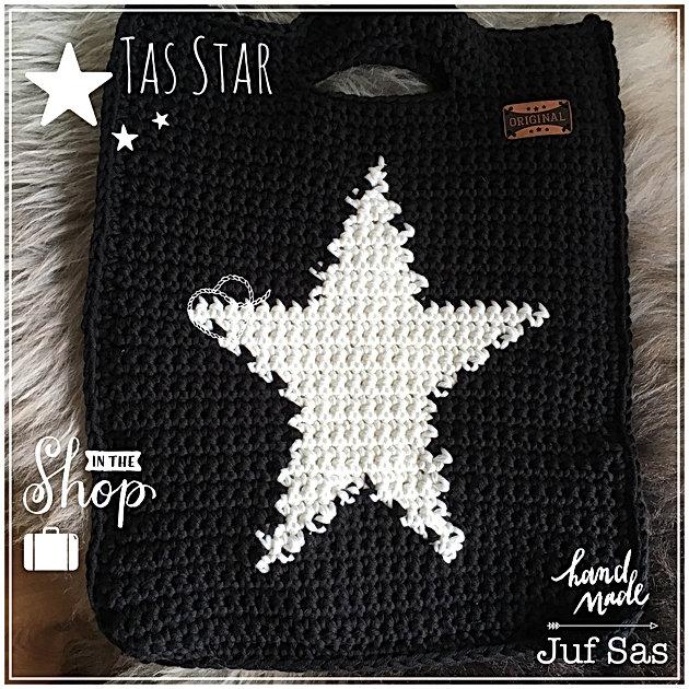 Uitzonderlijk Tas Star handmade by juf Sas met gratis patroon | Creatief &WF15
