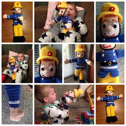 Brandweerman Sam handmade bij juf Sas