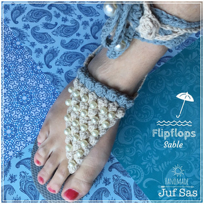 Gehaakte Flip Flops Sable handmade by juf Sas met gratis patroon