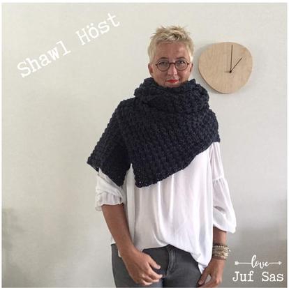 Shawl Höst handmade by juf Sas met gratis haakpatroon