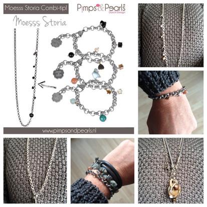 Pimps & Pearls, combinatie van ketting en armband