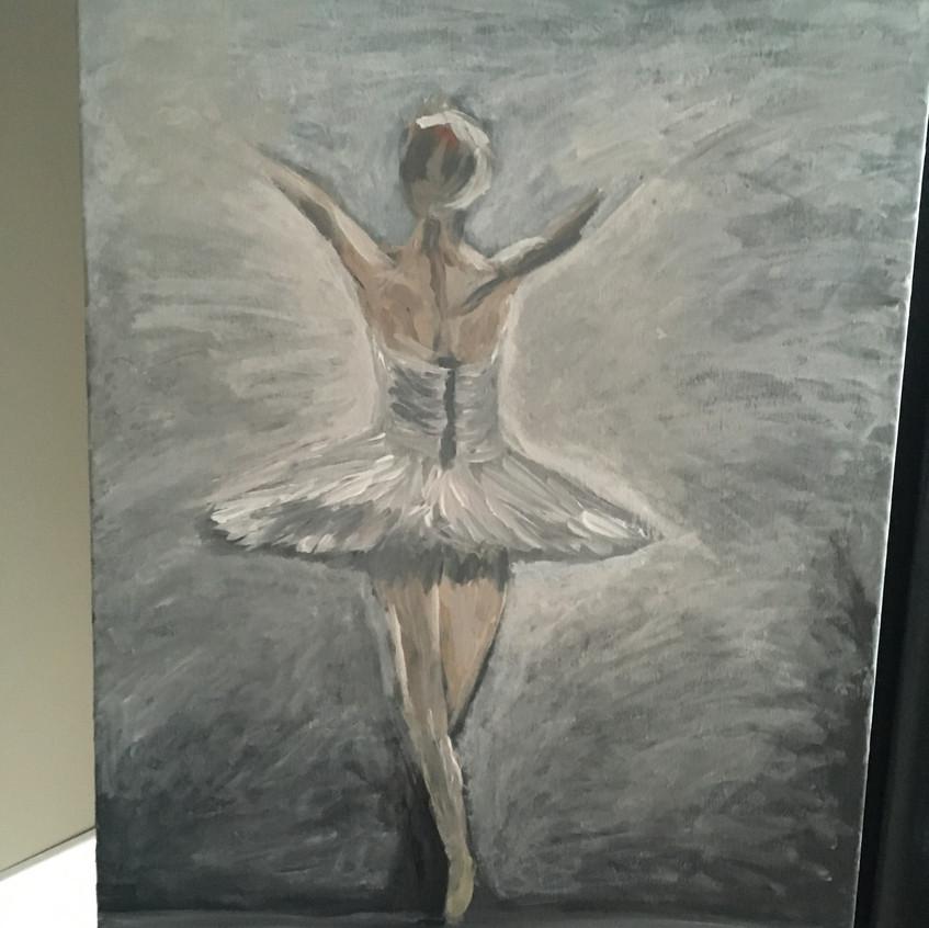 proces schilderij Ballerina