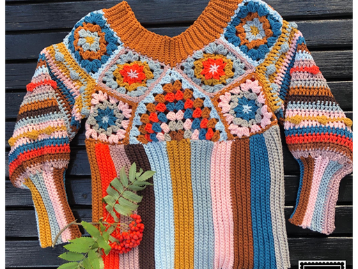 Haakpatroon trui Caja handmade by juf Sas