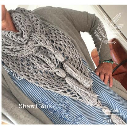 Shawl Zus handmade by juf Sas met gratis patroon