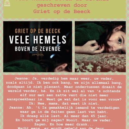 Boekquote uit 'Vele hemels boven de zevende' geschreven door Griet Op de Beeck