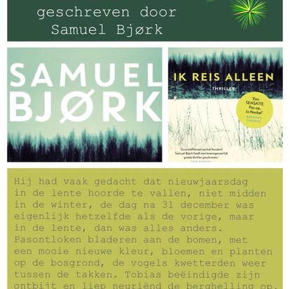 """Boekquote uit """"Ik reis alleen"""" geschreven door Samuel Bjørk"""
