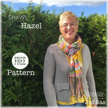 Shawl Hazel handmade by juf Sas met gratis patroon