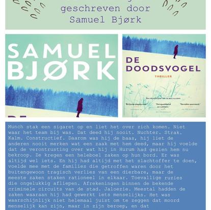 """Boekquote """"De doodsvogel"""" geschreven voor Samuel Bjørk"""