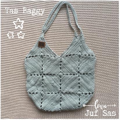 Tas Baggy handmade by juf Sas met gratis patroon
