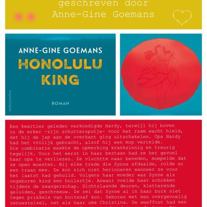 Boekquote uit Honolulu King geschreven door Anne-Gine Goemans