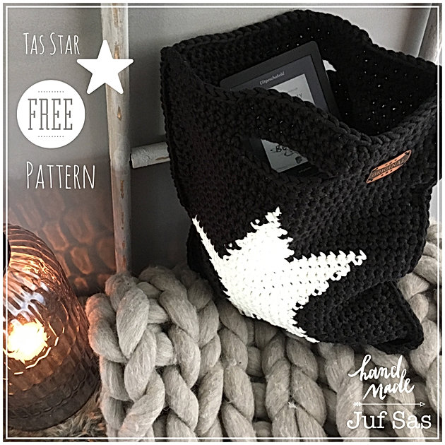 Genoeg Tas Star handmade by juf Sas met gratis patroon | Creatief &ZE95