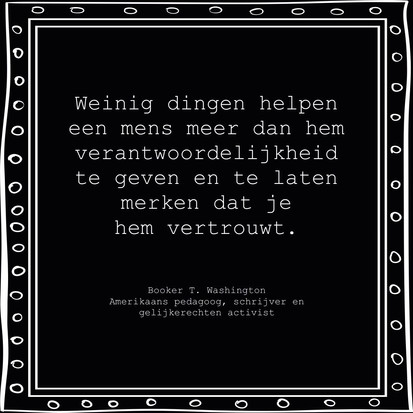 Quote van de week van Booker T. Washington, Amerikaans pedagoog