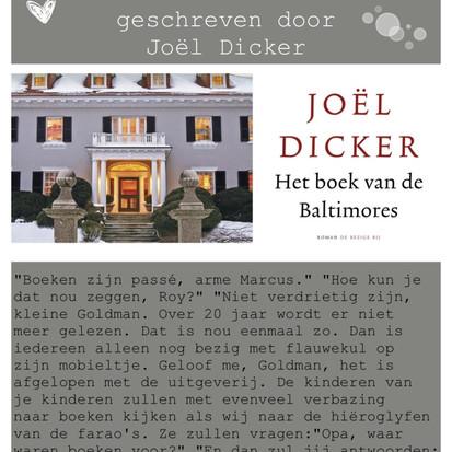 """Boekquote uit """"Het boek van de Baltimores"""" geschreven door Joël Dicker"""