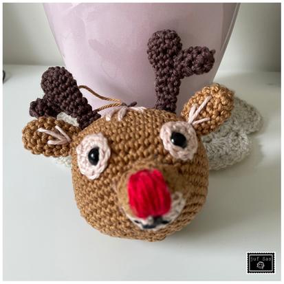 Rudolf het rendier handmade by juf Sas met gratis haakpatroon van Marlieke