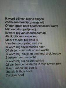 Ik Word Blij Van Kleine Dingen Gedicht Van Jochem Myjer