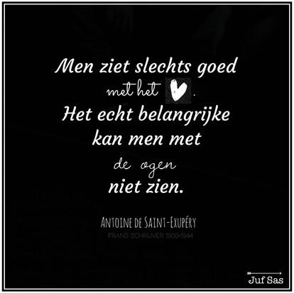 Quote van de week van schrijver Antoine de Saint-Exupéry
