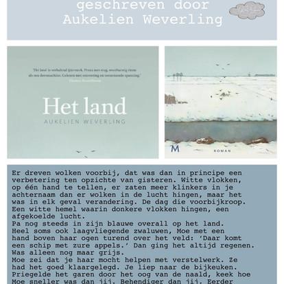 Boekquote uit 'Het land' geschreven door Aukelien Weverling