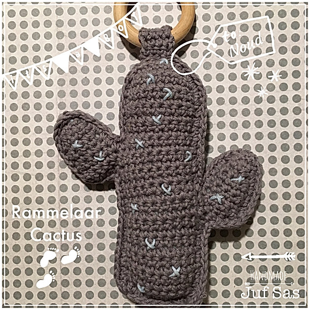 Gehaakte Rammelaar Cactus Handmade By Juf Sas Met Gratis Patroon