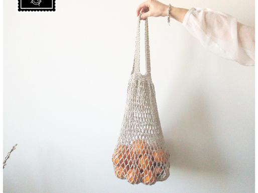 Boodschappennet handmade by juf Sas met gratis haakpatroon