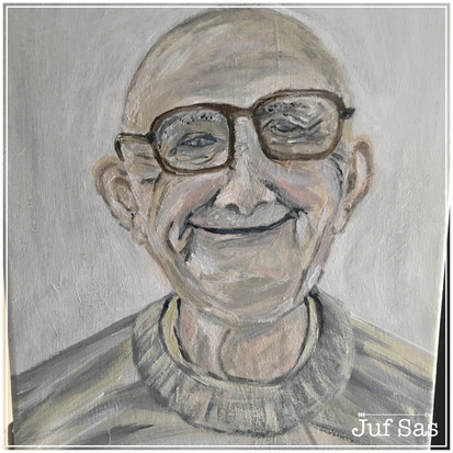 Schilderij Happy to be old