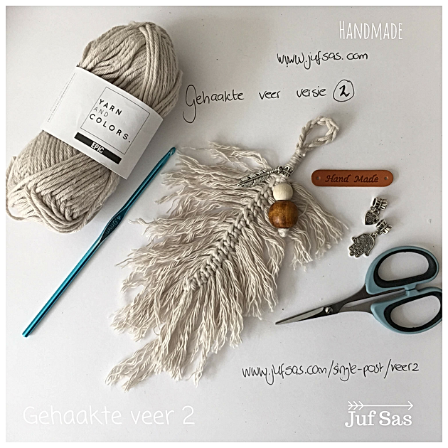 Nieuwe Variant Gehaakte Veer Handmade By Juf Sas Met Gratis Patroon