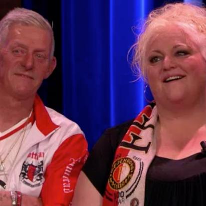 Feyenoord-fans Gerda & Frans in Pauw