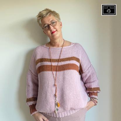 Trui Rosanne handmade by juf Sas met gratis haakpatroon